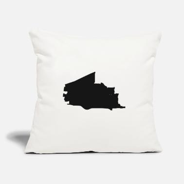 "Shape Plano Texas city map black illustration silhouette - Throw Pillow Cover 18"" x 18"""