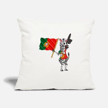 "Portuguese A Portuguese Zebra - Throw Pillow Cover 18"" x 18"""