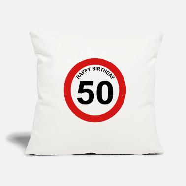 "50s 50 - Throw Pillow Cover 18"" x 18"""
