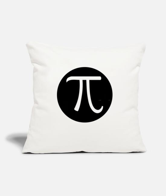 "Formula Pillow Cases - Pi - Throw Pillow Cover 18"" x 18"" natural white"