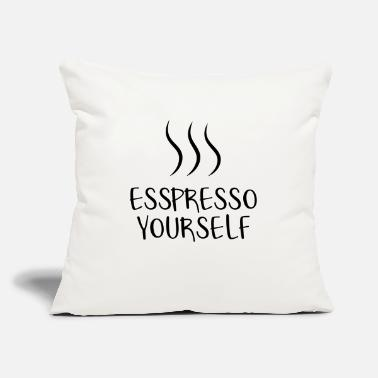 "Coffee Coffee. Caffeine. Coffee Lovers. Coffeshop - Throw Pillow Cover 18"" x 18"""