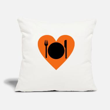 "Eating eat - Throw Pillow Cover 18"" x 18"""