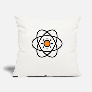 "Atom atom - Throw Pillow Cover 18"" x 18"""