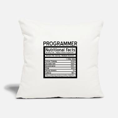 "Programmer Programmer - Throw Pillow Cover 18"" x 18"""