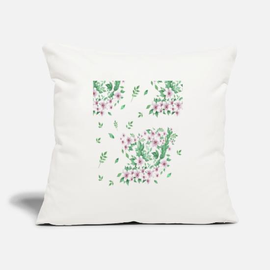 "Flowers Pillow Cases - may flowers - Throw Pillow Cover 18"" x 18"" natural white"