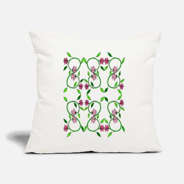 "Tendril Pattern Flower tendril - Throw Pillow Cover 18"" x 18"""