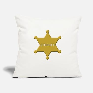 "Sheriff Sheriff Star - Throw Pillow Cover 18"" x 18"""