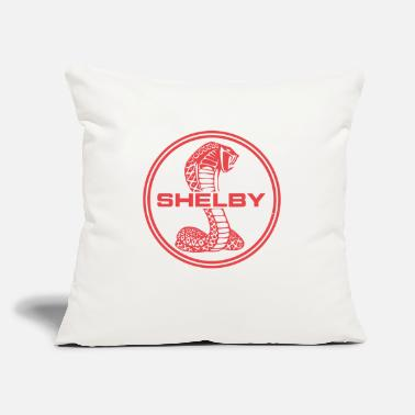 "Cobra red cobra car logo - Throw Pillow Cover 18"" x 18"""