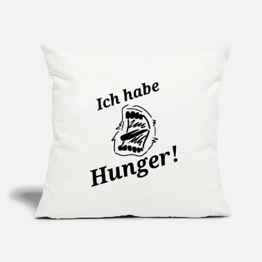 "Hunger Spruch Hunger - Throw Pillow Cover 18"" x 18"""