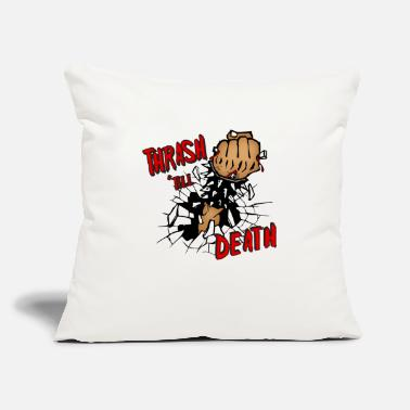 "Thrash Thrash Death - Throw Pillow Cover 18"" x 18"""