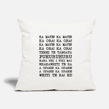 "Haka Haka New Zealand Rugby - Throw Pillow Cover 18"" x 18"""