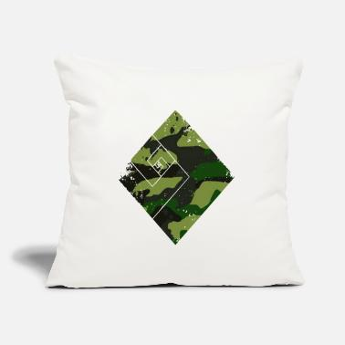 "Trend Square camouflage pattern green - Throw Pillow Cover 18"" x 18"""