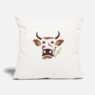 "Cow Cow Cow - Throw Pillow Cover 18"" x 18"""