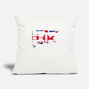 "Uk UK flag - Throw Pillow Cover 18"" x 18"""