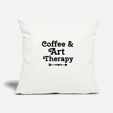 "Paint Brush Art Therapy Gift Art Therapist Occuational Therapy - Throw Pillow Cover 18"" x 18"""