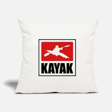 "Humorous Sayings Kayaking - Kayaker - Throw Pillow Cover 18"" x 18"""