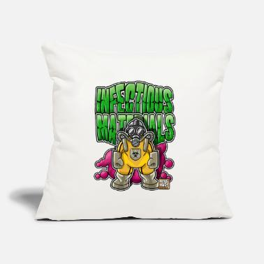 "Infectious Infectious Materials - Throw Pillow Cover 18"" x 18"""