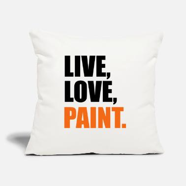 "Painting paint - Throw Pillow Cover 18"" x 18"""