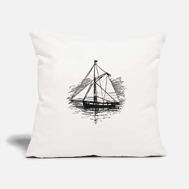 "Selection Vintage Boat - Throw Pillow Cover 18"" x 18"""