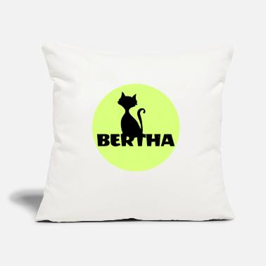 First Name Bertha name first name - Throw Pillow Cover