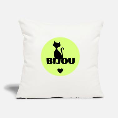 First Name Bijou first name cats name - Throw Pillow Cover