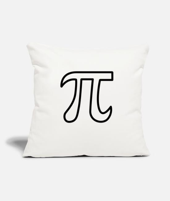 "Design Pillow Cases - Pi - Throw Pillow Cover 18"" x 18"" natural white"