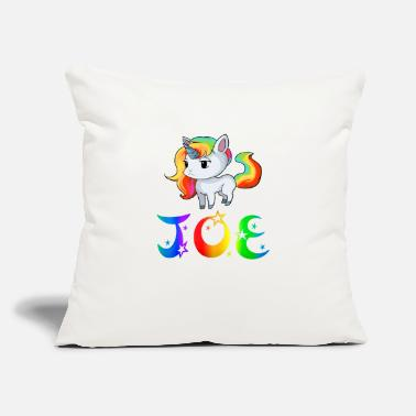 "Joe Joe Unicorn - Throw Pillow Cover 18"" x 18"""