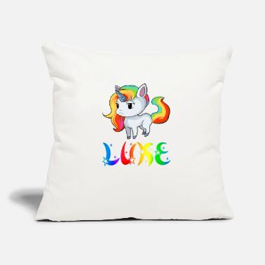 "Luke Luke Unicorn - Throw Pillow Cover 18"" x 18"""