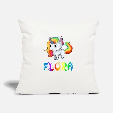 "Flora Flora Unicorn - Throw Pillow Cover 18"" x 18"""