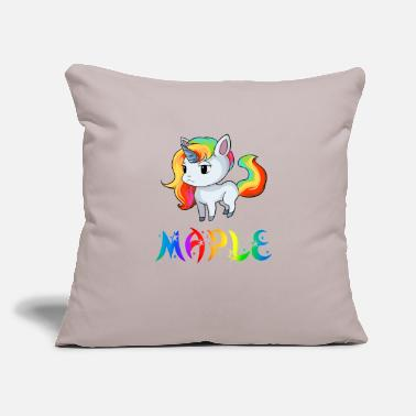 "Maple Maple Unicorn - Throw Pillow Cover 18"" x 18"""