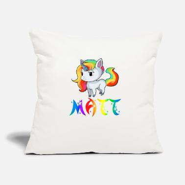 "Matt Matt Unicorn - Throw Pillow Cover 18"" x 18"""