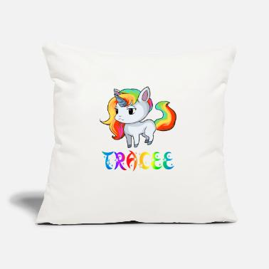 "Trace Tracee Unicorn - Throw Pillow Cover 18"" x 18"""