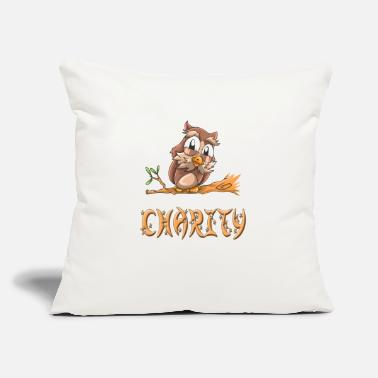 "Charity Charity Owl - Throw Pillow Cover 18"" x 18"""