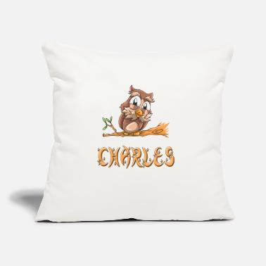 "Charles Charles Owl - Throw Pillow Cover 18"" x 18"""