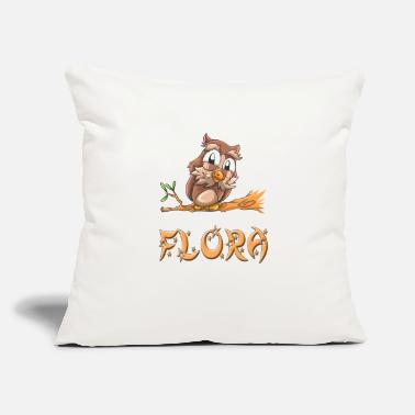 "Flora Flora Owl - Throw Pillow Cover 18"" x 18"""