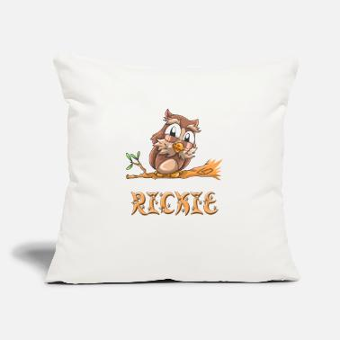 "Ricky Rickie Owl - Throw Pillow Cover 18"" x 18"""