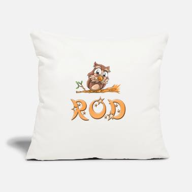 "Rod Rod Owl - Throw Pillow Cover 18"" x 18"""