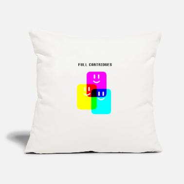 "CMYK Full Cartridges - Throw Pillow Cover 18"" x 18"""