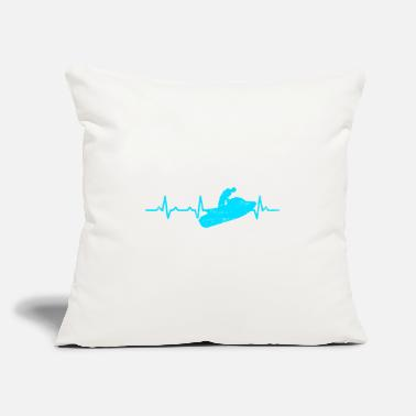 "Watercraft Jetski Lover Watercraft Heartbeat Gift T-shirt - Throw Pillow Cover 18"" x 18"""