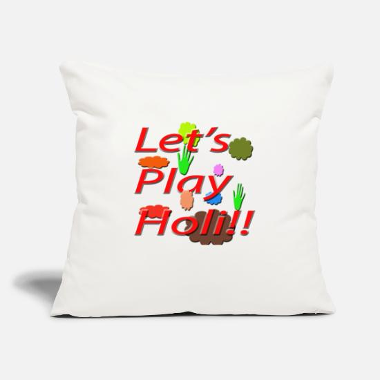 "Holi Pillow Cases - Colours - Throw Pillow Cover 18"" x 18"" natural white"