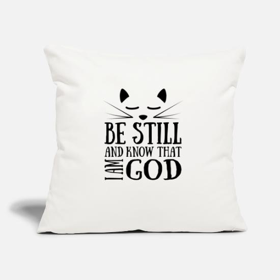 "Still Pillow Cases - Christian,Bible Quote,Be still know that I am God - Throw Pillow Cover 18"" x 18"" natural white"