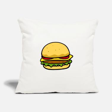 "Beautiful Burger Burger - Throw Pillow Cover 18"" x 18"""