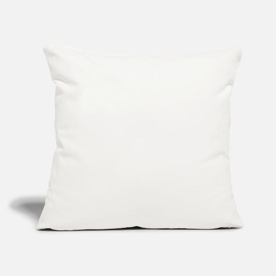 "Problem Pillow Cases - Not my problem funny sarcasm gift idea - Throw Pillow Cover 18"" x 18"" natural white"