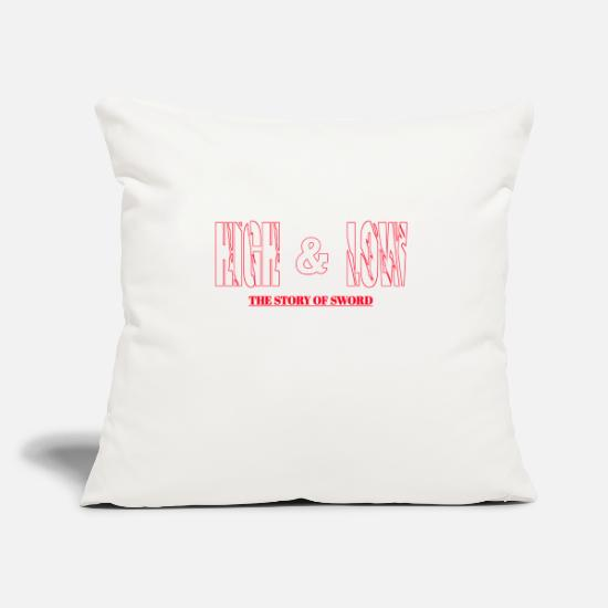 "The Movie Pillow Cases - high & low - Throw Pillow Cover 18"" x 18"" natural white"