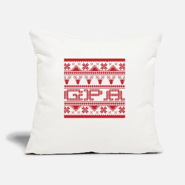 "Gpa Christmas Ugly Xmas Sweater Gpa - Throw Pillow Cover 18"" x 18"""