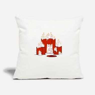 "cult cat - Throw Pillow Cover 18"" x 18"""