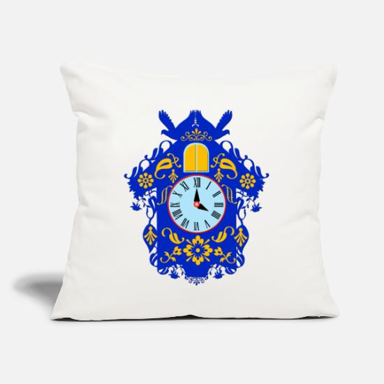 "Tourism Pillow Cases - decorative blue cuckoo clock - Throw Pillow Cover 18"" x 18"" natural white"