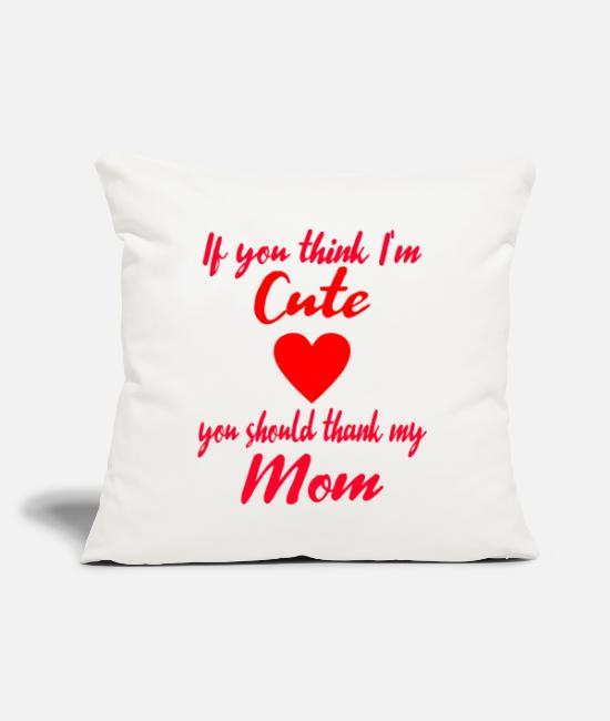 "Pregnancy Pillow Cases - Family Mom Mommy Mothers Day Gift Idea Birthday - Throw Pillow Cover 18"" x 18"" natural white"