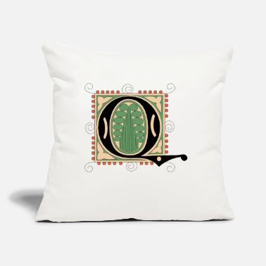 "Font font - Throw Pillow Cover 18"" x 18"""