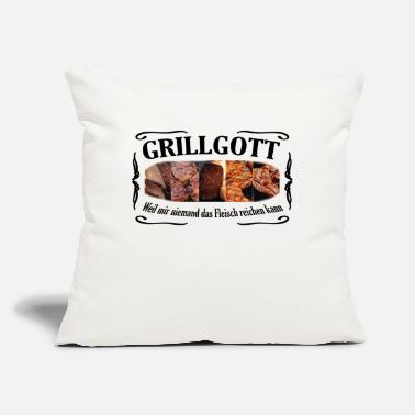 "Schwarz GRILLGOTT schwarz - Throw Pillow Cover 18"" x 18"""